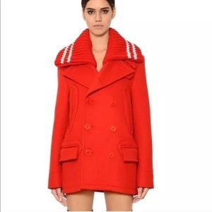 Givenchy Res Wool Collar Peacoat